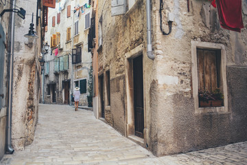Street in a Small Mediterranean Coastal Town