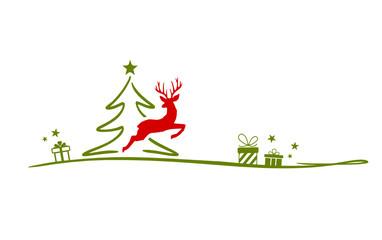 Christmas Tree and Rendeer