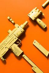 machine gun/ Uzi with al extended parts.