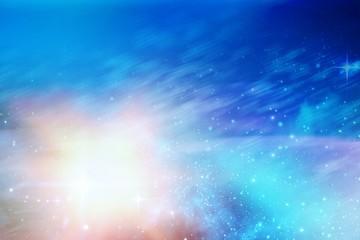 Aurora night sky in blue