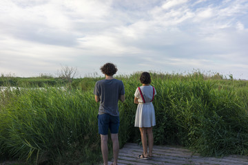 Couple in natural park