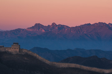 The Great Wall before sunrise