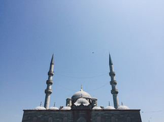 Snapshot by smartphone of Muslim Mosque in Istanbul