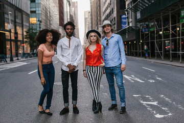 Group of Friends in the Streets of New York