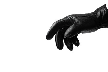 Black glove on white background Wall mural