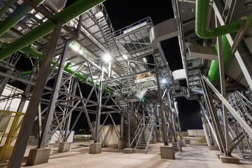 Industrial installations at night