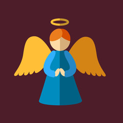 Christmas angel icon.
