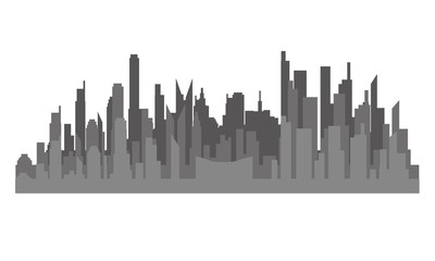 The silhouette of the city in a flat style. Modern urban landscape.vector illustrationъ