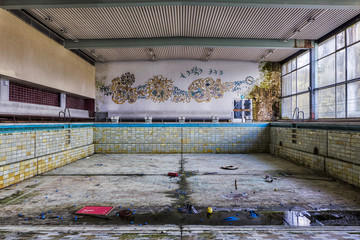abandoned swimming baths