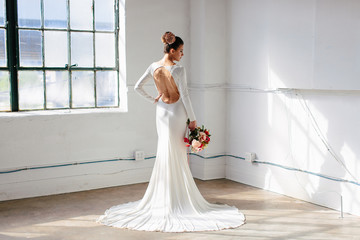 Natural light bridal portrait