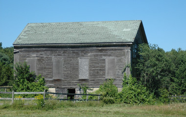 Old Boarded Up Barn