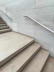 Modern steps and handrail