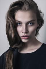 Young beautiful woman in studio