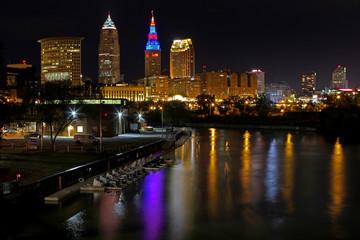 Cleveland Ohio Skyline at Night