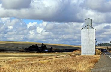 Grain Silo on the road
