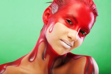 creative face-art