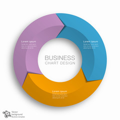 Business Chart Design 3-Step #Vector Graphics