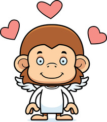 Cartoon Smiling Cupid Monkey
