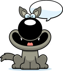 Talking Cartoon Wolf