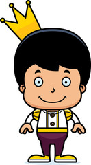 Cartoon Smiling Prince Boy