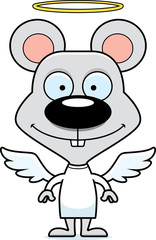 Cartoon Smiling Angel Mouse