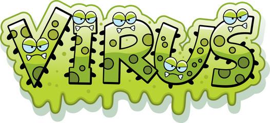 Cartoon Slimy Virus Text