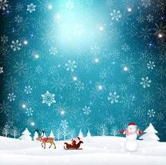 クリスマス サンタ 雪 背景