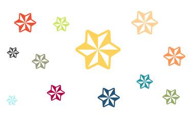 Viele bunte Sterne