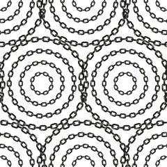 Simple chain rounds seamless pattern