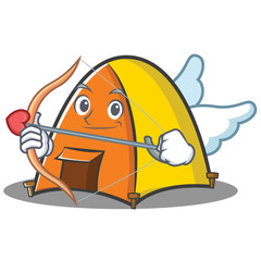 Cupid tent character cartoon style