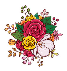 flower bouquet vector illustration