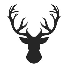 Deer head illustration vector