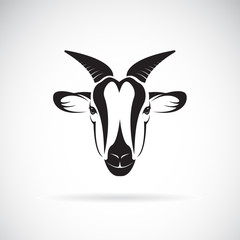 Vector of goat head design on white background. Wild Animals.