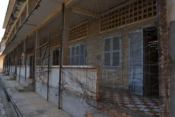 Closer view around Genocide Museum in Phnom Penh, Cambodia