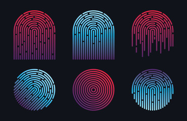 ID Finger Print Vector Design Icons