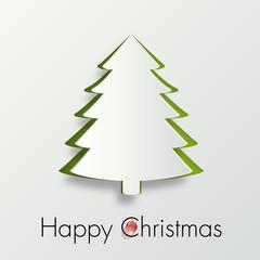 carte de vœux - noël - happy christmas - joyeux noël - sapin de noël - boule de noël - sapin