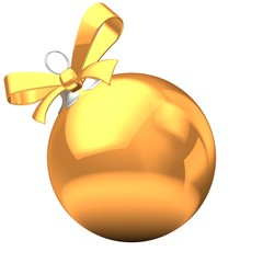 3d golden Christmas ball