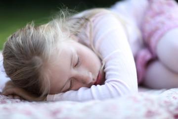wellness and health, scandinavian summer, scandinavian people, sick child in pain, sleeping outside