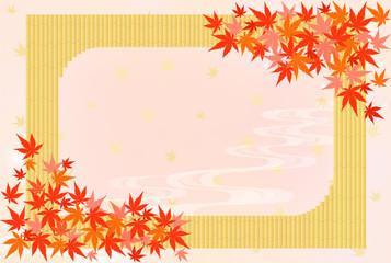 温泉イメージ 竹垣と紅葉