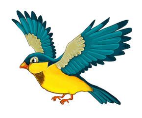 Cartoon animal - bird flying - illustration for children