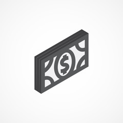 Money isometric icon 3d illustration