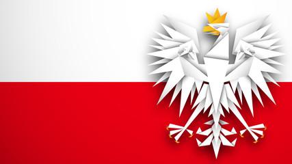 flaga Polski wektor
