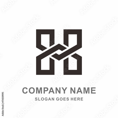 Monogram letter h geometric infinity square architecture interior monogram letter h geometric infinity square architecture interior construction business company stock vector logo design template pronofoot35fo Images