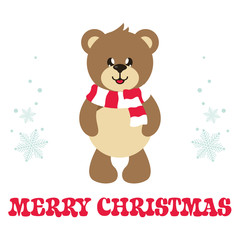 cartoon cute bear with text