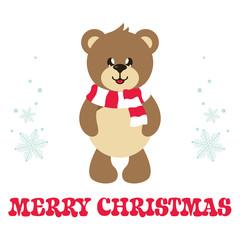 cartoon cute bear with text