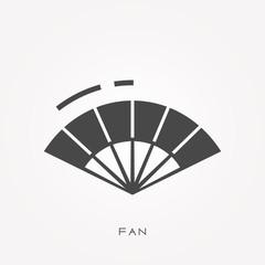 Silhouette icon fan