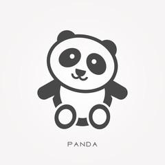 Silhouette icon panda