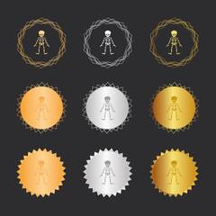 - Bronze, Silber, Gold Medaillen