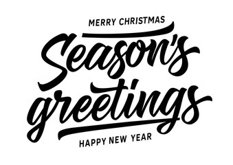 Merry Christmas Seasons Greetings Inscription
