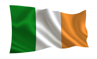 Ireland flag. A series of flags of the world.